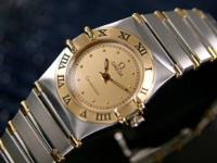 Rarely worn Omega Constellation men's watch.  Gold and