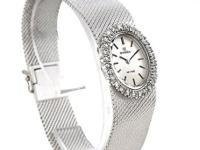 Case: Original Omega 18k white gold oval case 20.0 x