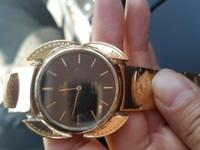 OMEGA WATCH WITH 116 gr 22CT SOLID  GOLD BEND from