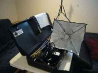 Omna and Tota lights, 4 stands, umbrellas, cables,