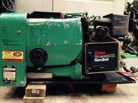 This Onan generator has a new starter and the motor