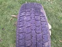 i have one 195/75-14 with about 75% tread $10 call or