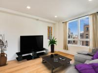 This stunning one bedroom features high ceilings, large