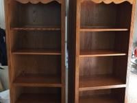 "One  bookcase left. . 30"" W, 17.5 D, 76 H.  Two shelves"