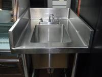 FOR SALE - ONE COMPARTMENT SINK WITH FAUCET-- 24 IN