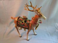 Fitz & Floyd Deer Standing Holiday Reindeer 19/1437.