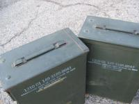 ONE LARGE EMPTY 60 MM MORTAR AMMO CAN $65.00 FOR EACH