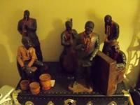 One of a kind 6 piece Jazz/Blues Statuettes. Each piece