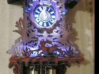 "Unique 36"" ""Baby Grand"" Cuckoo Clock plays westminster"