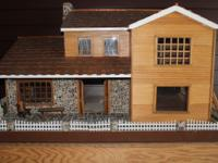 Fabulous dollhouse made to scale and custom-built by my