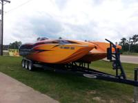 This is a one of a kind custom made boat.  Big Block