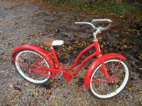 "picture 1&2  red 20"" Schwinn great wheels and treads"