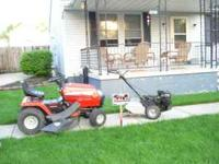 I HAVE A ROTO TILLER ONE REAR TINE AN A RIDING LAWN