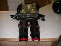 Oneal chest protector and fox knee protectors. All