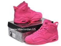 Newest nike air jordan 6 retro peach pink leather