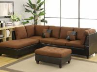 **OVERSTOCK SECTIONAL W/FREE OTTOMAN !!!!**  Sectional