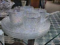 Opalescent Glass Snack Set  Get there 1st and check it