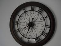 "Open Back Wall Clock (30"" Diameter) Great Price Come"