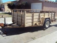Open Box All Steel Trailer 5 By 10 Located In the City
