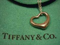 TIFFANY & CO. ELSA PERETTI Open Heart Necklace 925