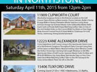 JOIN US THIS SATURDAY APRIL 11TH FOR AN OPEN HOUSE