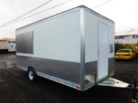 28' box 23+' 2 car/sand buggy/ATV trailer; used for 2