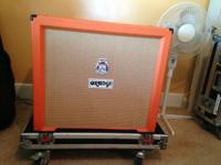Orange Speaker Cabinet for sale.  16ohm Vintage 30's.