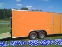 Orange 8.5 x 18 TA2 Enclosed Trailer (Economy Line)
