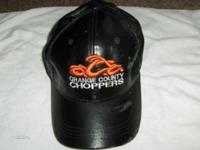 Orange County Choppers OCC Black Leather Baseball