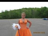 . I have an orange senior prom dress/ball gown