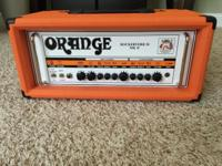 This is an Orange Rockerverb 50 MKII amp head. It is in