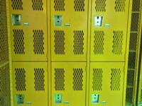 Vintage Heavy Duty Steel Mesh Lockers  These aren't the