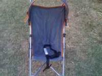Umbrella stroller hardly used  Location: Woodlake