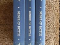 I have the following three-volume set for sale: Order