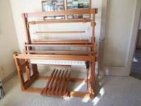Floor Loom in like new condition. Hand crafted, with 45