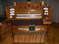 Church organ with complete AGO pedal board, likewise