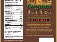ORGANIC BEEF JERKY SLAB STYLE ORIGINAL TWO 3 OZ.
