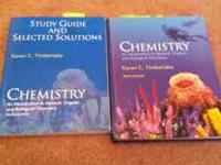 Chemistry book along with study guide book, used for a