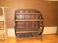 FOR SALE IS AN ORGINAIL WAGON WHEEL CABINET MFG BY THE