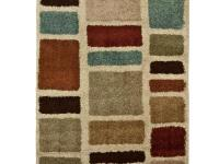 The stain-resistant Orian Rugs Moodie Blues Multicolor