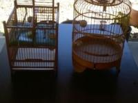 I have 2 oriental bamboo bird cages for sale. Good for