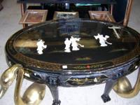 Coffee table $25.00 Two small ones $20.00 Four round