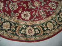 VERY NICE Oriental Rug. Burgundy, Tan w/Hunter Green