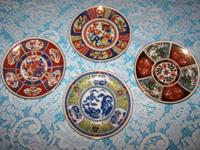 Decorative Oriental Wall Plate hangings - Set of Four