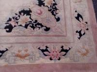 12 x 12 Size, Cream Colored With Asian Pattern, Very