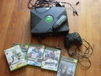 I have a like new original xbox with 1 controller the