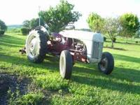 '59 Ford 8n with a 5' Woods Finish Mower Lot's of new