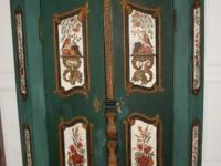 Beautiful original german Armoire FOLK ART date on the