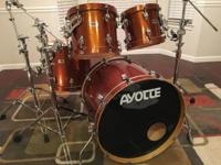 Used 4-piece vintage Ayotte sugar maple custom drums