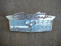 Here is an ORIGINAL cast chrome Chris Craft dash mount